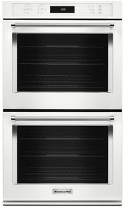 """KODE507EWH KitchenAid 27"""" Double Wall Oven with Even-Heat True Convection - White"""