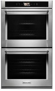 "KODE900HSS KitchenAid 30"" Double Wall Oven with Even-Heat and True Convection - Stainless Steel"