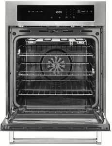 """KOSC504ESS KitchenAid 3.1 Cu. Ft. 24"""" Single Wall Oven with True Convection - Stainless Steel"""