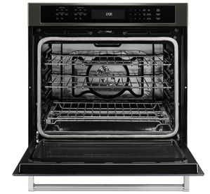 """KOSE500EBS KitchenAid 30"""" Single Wall Oven with Even-Heat and True Convection - Black Stainless Steel"""