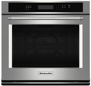 "KOSE500ESS KitchenAid 30"" Single Wall Oven with Even-Heat True Convection - Stainless Steel"