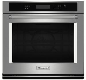 "KOSE507ESS KitchenAid 4.3 Cu. Ft. 27"" Single Wall Oven with Even-Heat True Convection - Stainless Steel"
