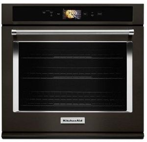 "KOSE900EBS KitchenAid 30"" Single Wall Oven with Even-Heat and True Convection - Print Shield Black Stainless Steel"