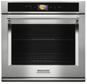 """KOSE900HSS KitchenAid 30"""" Single Wall Oven with Even-Heat and True Convection - Stainless Steel"""