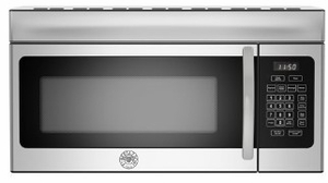 "KOTR30XT Bertazzoni 30"" Over The Range Convection Microwave with 300 CFM and 10 Power Levels  - Stainless Steel"