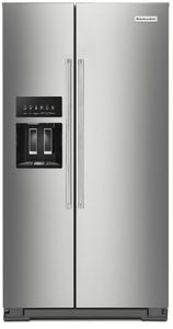 """KRSC700HPS KitchenAid 36"""" Counter Depth Side-by-Side Refrigerator with In Door Ice System and Clear Door Bins  - PrintShield Stainless Steel"""