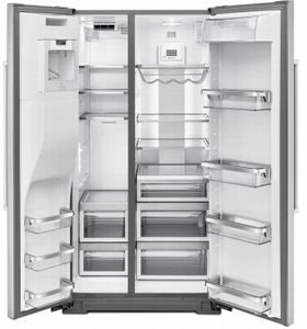 "KRSF705HPS KitchenAid 36"" Side-by-Side Refrigerator with In Door Ice System and Clear Door Bins  - PrintShield Stainless Steel"