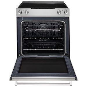 "KSEG700ESS KitchenAid 6.4 Cu. Ft. 30"" Electric 5 Element Slide-in Convection Range - Stainless Steel"
