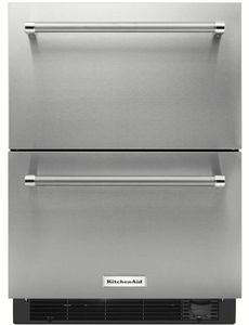 "KUDR204ESB KitchenAid 24"" Double Drawer Refrigerator with Touch Controls - Stainless Steel"
