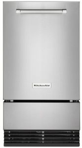 """KUID308HPS KitchenAid 18"""" Automatic Icemaker with Clear Ice Technology - PrintShield Stainless Steel"""