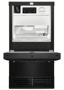 "KUID508HBL KitchenAid 18"" Automatic Icemaker with Clear Ice Technology Factory Installed Drain Pump - Black"
