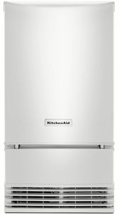 "KUID508HWH KitchenAid 18"" Automatic Icemaker with Clear Ice Technology Factory Installed Drain Pump - White"