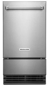 """KUIO338HSS KitchenAid 18"""" Outdoor Automatic Icemaker with Clear Ice Technology and Self Cleaning Cycle - PrintShield Stainless Steel"""