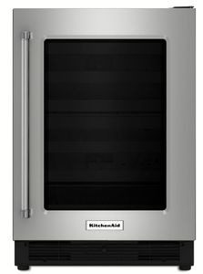 """KURR204ESB KitchenAid 24"""" Undercounter Refrigerator with UV Protected Glass Door - Right Hinge - Stainless Steel"""