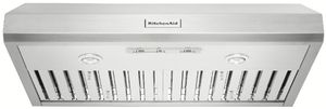 """KVUC606JSS KitchenAid 36"""" Commercial-Style Under-Cabinet Range Hood System with 585 CFM - Stainless Steel"""