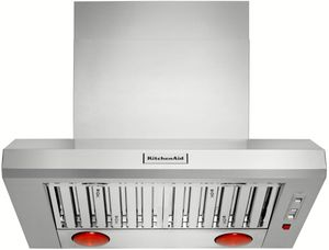 """KVWC956JSS KitchenAid 36"""" Commercial-Style Wall-Mount Canopy Range Hood - Stainless Steel"""