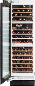 """KWT1613SF Miele 24"""" Wine Storage Unit - Left Hinge - CleanTouch Stainless Steel"""