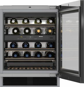 """KWT6322UG Miele 24"""" Undercounter Wine Storage Refrigerator with Room for Up To 34 Bottles - Stainless Steel"""