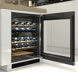 """KWT6322UG Miele 24"""" Undercounter Wine Storage Refrigerator with Room for Up To 34 Bottles - Stainless Steel -OPEN BOX"""
