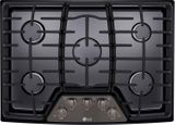 "LCG3011BD LG 30"" Gas Cooktop with SuperBoil and Heavy Duty Cast Iron Grates - Black Stainless Steel"