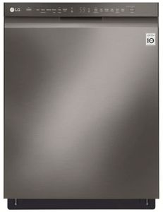 "LDF5545BD LG 24"" Front Control Dishwasher with QuadWash and EasyRack Plus - Black Stainless Steel"