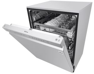 "LDF5545SS 24"" LG Front Control Dishwasher with QuadWash and EasyRack Plus - PrintProof Stainless Steel"