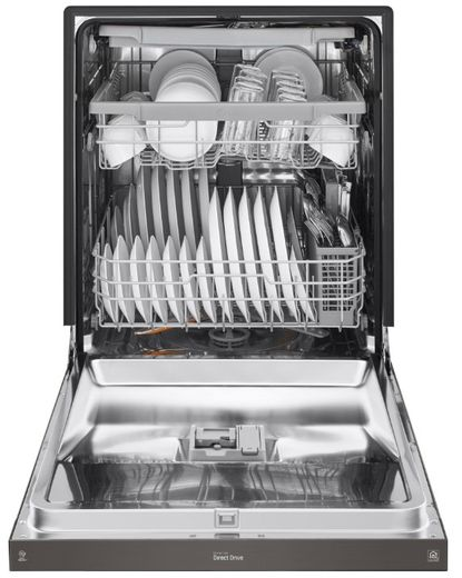 """LDF5678BD LG 24"""" Front Control Wifi Enabled Dish Washer with QuadWash and 9 Wash Cycles - Black Stainless Steel"""