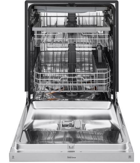 """LDF5678ST LG 24"""" Front Control Wifi Enabled Dish Washer with QuadWash and 9 Wash Cycles - Stainless Steel"""