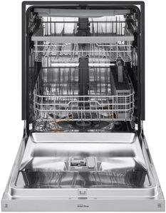 "LDF5678ST LG 24"" Front Control Wifi Enabled Dish Washer with QuadWash and 9 Wash Cycles - Stainless Steel"
