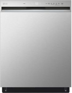 """LDFN3432T LG 24"""" Front Control Dishwasher with Pocket Handle - Stainless Steel"""