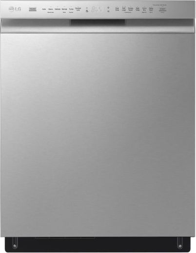 """LDFN4542S LG 24"""" Front Control Dishwasher with Pocket Handle - PrintProof Stainless Steel"""