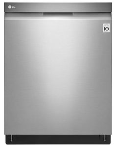 "LDP6797ST LG 24"" Top Control Dishwasher with QuadWash and EasyRack Plus - Stainless Steel"