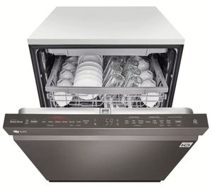 LDP6809BD LG Built-In Fully Integrated Dishwasher with WiFi Connect and 9 Wash Options - PrintProof Black Stainless Steel