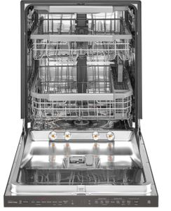 "LDP7708BD LG 24"" Top Control Wifi Enabled Dish Washer with QuadWash and 10 Wash Cycles - Black Stainless Steel"