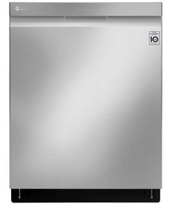 "LDP7708ST LG 24"" Top Control Wifi Enabled Dish Washer with QuadWash and 10 Wash Cycles - Stainless Steel"