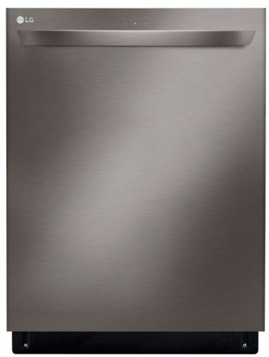 "LDT5679BD LG 24"" Top Control Smart WiFi Enabled Dishwasher with 3rd Rack and Quadwash - Black Stainless Steel"