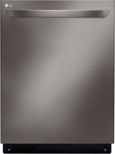 """LDT5678BD LG 24"""" Top Control Smart WiFi Enabled Dishwasher with 3rd Rack and Quadwash - Black Stainless Steel"""