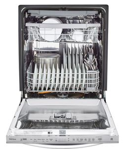 """LDT5678SS LG 24"""" Top Control Smart WiFi Enabled Dishwasher with 3rd Rack and Quadwash - PrintProof Stainless Steel"""