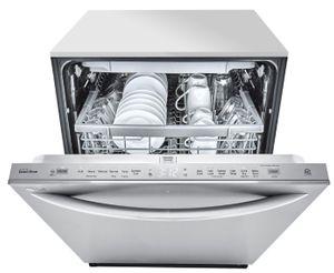 "LDT5678ST LG 24"" Top Control Smart WiFi Enabled Dishwasher with 3rd Rack and Quadwash - Stainless Steel"