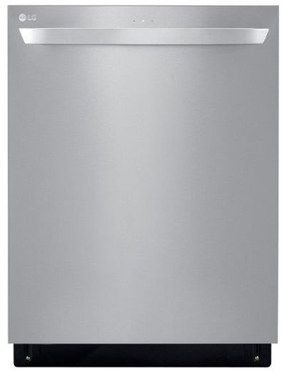"""LDT5678ST LG 24"""" Top Control Smart WiFi Enabled Dishwasher with 3rd Rack and Quadwash - Stainless Steel"""
