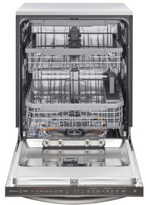 """LDT6809BD LG 24"""" Built-In Fully Integrated Dishwasher with LG QuadWash and 10 Wash Cycles - Print Proof Black Stainless Steel"""