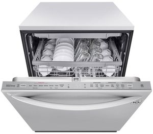 """LDT6809SS LG 24"""" Built-In Fully Integrated Dishwasher with LG QuadWash and 10 Wash Cycles - PrintProof Stainless Steel"""