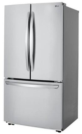 """LFCC22426S LG 36"""" French Door Counter Depth Refrigerator with SmartDiagnosis and Smart Cooling System - PrintProof Stainless Steel"""
