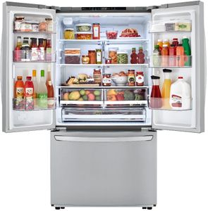 "LFCC22426S LG 36"" French Door Counter Depth Refrigerator with SmartDiagnosis and Smart Cooling System - PrintProof Stainless Steel"