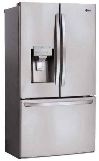 """LFXC22526S LG 36"""" French Door Counter Depth Smart WiFi Enabled Refrigerator with Slim SpacePlus and SmartThinkQ Technology - PrintProof Stainless Steel"""