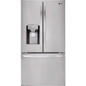"LFXC22526S LG 36"" French Door Counter Depth Smart WiFi Enabled Refrigerator with Slim SpacePlus and SmartThinkQ Technology - PrintProof Stainless Steel"
