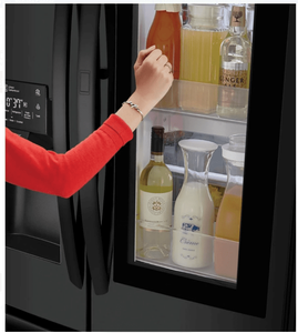 """LFXS26596M LG 36"""" 26 Cu. Ft. French Door Refrigerator with Smart Wi-Fi and InstaView - Black Stainless Steel"""