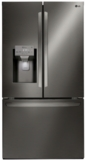 """LFXS26973D LG 36"""" 26.2 Cu. Ft. French Door Smart Refrigerator with Wi-Fi Enabled and Smart Home Enabled - Black Stainless Steel"""