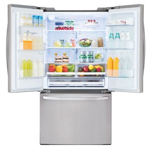 """LFXS26973S LG 36"""" 26.2 Cu. Ft. French Door Smart Refrigerator with Wi-Fi Enabled and Smart Home Enabled - Stainless Steel"""