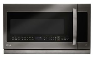 """LMHM2237BD LG 30""""2.2 Cu. Ft. Over-the-Range Microwave Oven with Glass Touch - Black Stainless Steel"""